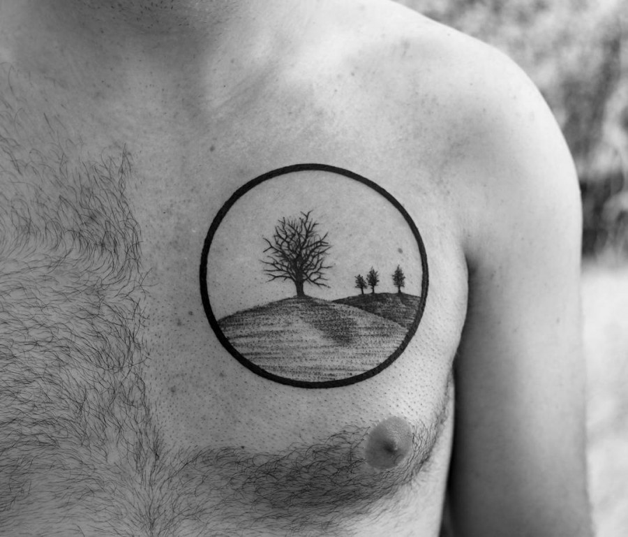 Animal Landscape Tattoo