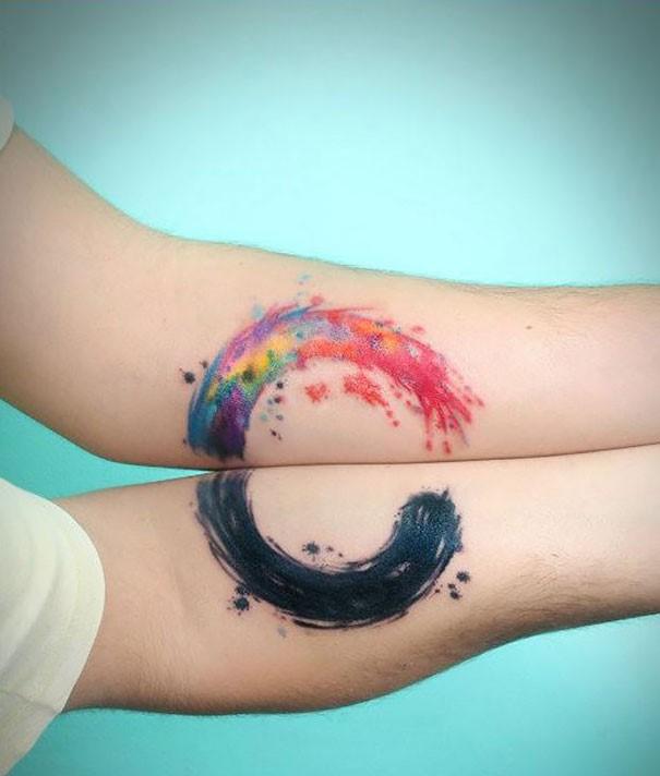 circle couples tattoos