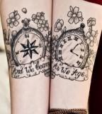 Compass / Watch Tattoo Design - Match Tattoo