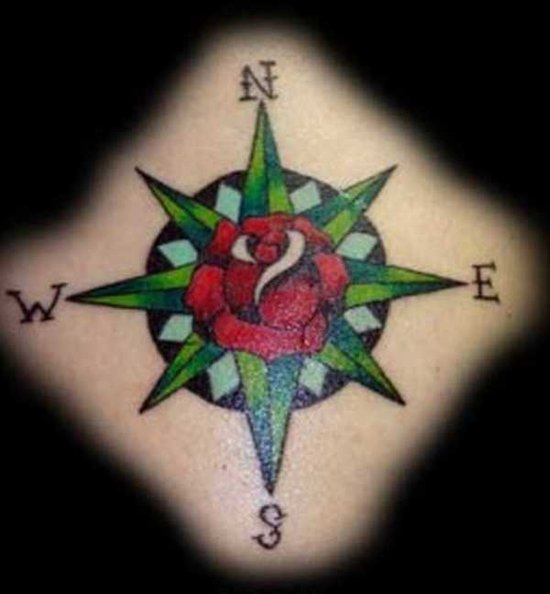 Tattoo With Compass And Rose As Main Ideas Tattoomagz