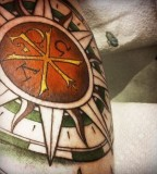 Greek Tattoos Design - Compass Tattoo