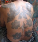 All Body Tattoos - Flower / Compass Tattoo Design