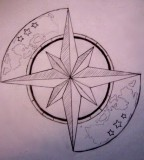 Tattoo Design of Compass Image