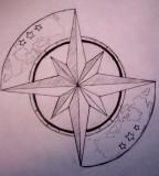 Tattoo Design of Compass Image