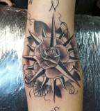 Forearm Compass Rose Tattoo Ideas