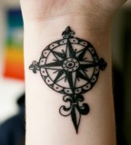 Temporary Tattoo Ideas - Compass Tattoo Design