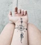 Wrist Compass Tattoo Design