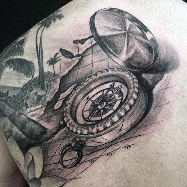 compass tattoos for men