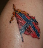 Confederate Flag Tattoo 2 At Toon Towne Photos From Jim Fisher