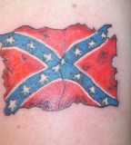 Tatterred Rebel Flag Tattoo Photos From Raven K Raven On