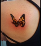 Cute 3d butterfly tattoo ideas