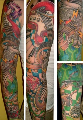 Exotic Guitar Gallery Tattoo Pictures