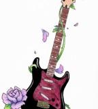 Cool Guitar Tattoo Design Ideas Art