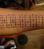 Guitar Tattoo Stick On Body Tattoo Design Art Flash Pictures
