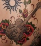 Cool Rose and Guitar Tattoos Design Ideas