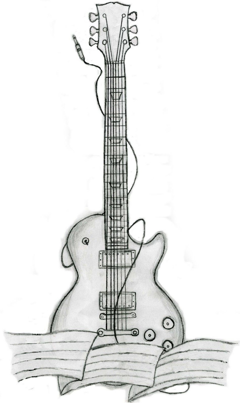Cool Tattoo Design Great Guitar Tattoo Designs