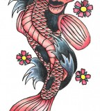 Beautifully Calm Koi Fish Tattoo