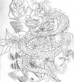 Dragon Koi Fish Tattoo Design