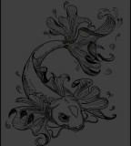 Koi Fish Tattoo Design Sample