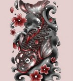 Koi Fish Tattoo Las Vegas Design Idea