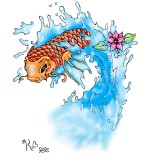 Orange Koi Coy Fish Tattoo Design Sketch by Girfreak8 On Deviantart