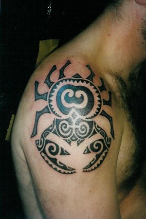 crab tribal tattoo