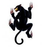 Funny Crawling Black Panther Tattoo