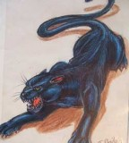 Dashing Panther Tattoo Design Idea