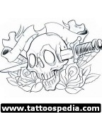 Head Skull Tattoo Design