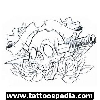 Head skull tattoo design tattoomagz for Write your own tattoo