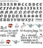 Girl Fashion Words Alphabet Tattoos
