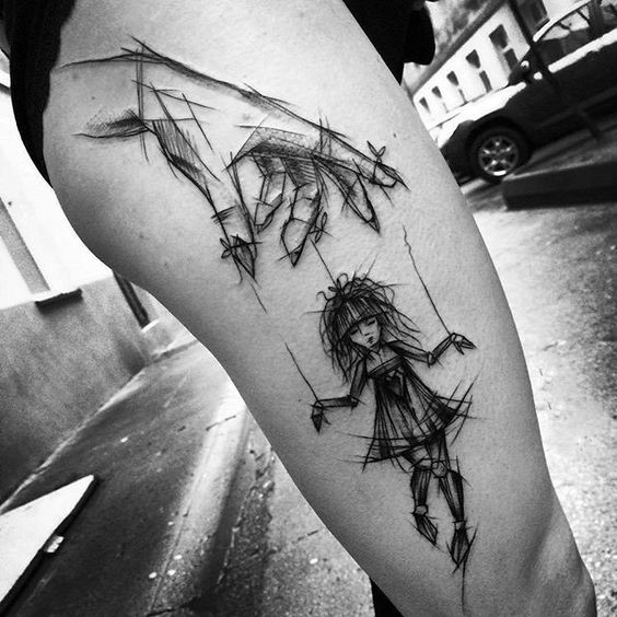 creative work by Inez Janiak puppet tattoos for women