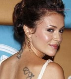 Alyssa Milano Back Tattoo