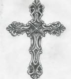 Cross Tattoo By Birdofflame