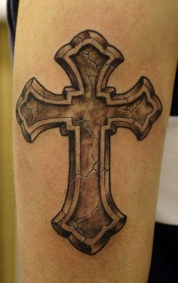 Simple Cross Tattoo For Men