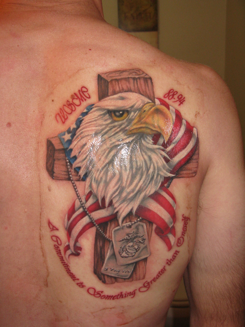 eagle and cross marine corps tattoos sgt grit free download. Black Bedroom Furniture Sets. Home Design Ideas