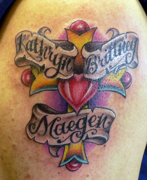 Looking for unique krystof tattoos family cross tattoomagz for Creative tattoo shop names
