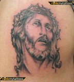 Jesus Crown Of Thorns Jesus Tattoo