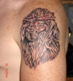 Lion With Crown Of Thorns Tattoo Rate My Ink Picture