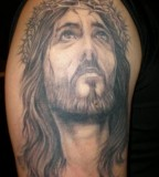 Jesus Tattoo Jesus With Crown Of Thorns Picture