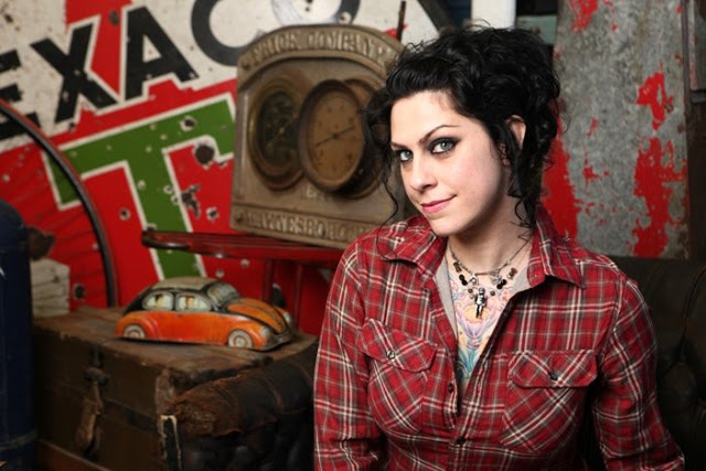 American Pickers Danielle Colby Impressive Chest Tattoo Design