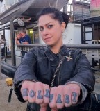 Danielle Colby Finger Tattoos