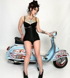 Danielle Colby Cushman Photo With Classic Vespa