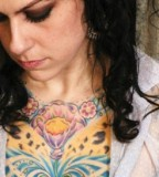 Colorful Chest Tattoo Design Idea from Danielle Colby Cushman