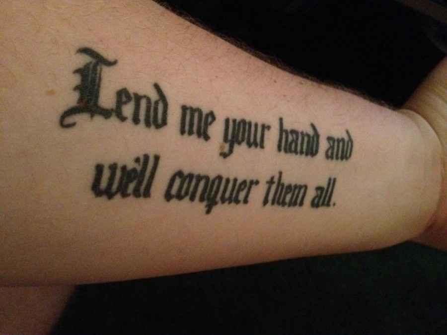 Quote Tattoos On Upper Arm Tattoo Quote On Forearm