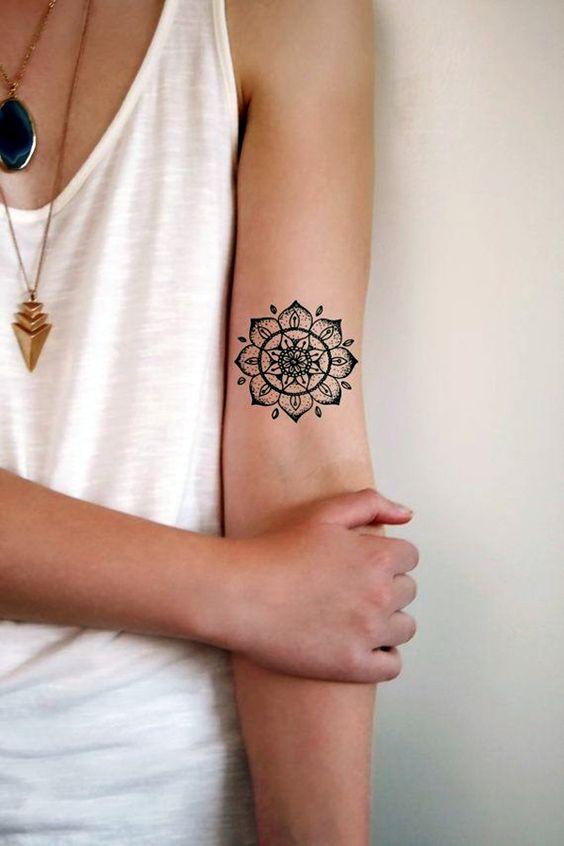 delicate mandala tattoo