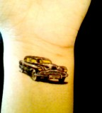 Unique 50s Car DIY Temporary Arm Tattoo Ideas
