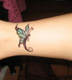 Blue Beautiful Butterfly DIY Temporary Tattoo Design