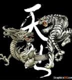 Dragon Versus Tiger Tattoo Sample