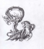 Tattoo Tiger Dragon Artwork